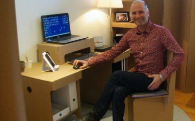 Près de Toulouse, un entrepreneur conçoit des bureaux en carton adaptés au télétravail