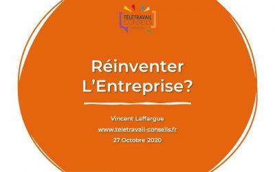 Conférence  «Réinventer L'entreprise» – Octobre 2020 en partenariat avec Offiscenie